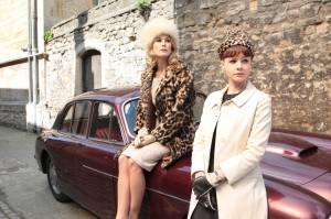 An Education movie scene with Rosamund Pike and Carey Mulligan