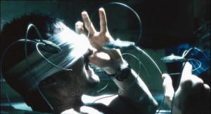 Minority Report movie scene with Tom Cruise