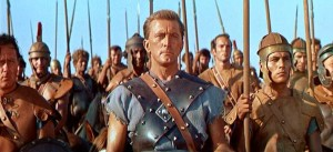 Spartacus movie scene with Kirk Douglas