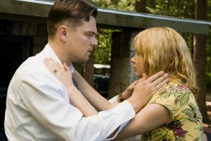 Shutter Island movie scene with Leonardo DiCaprio and Michelle Williams