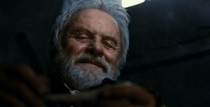 The Wolfman movie scene with Anthony Hopkins