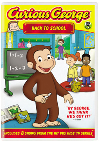 Curious George: Back to School DVD box