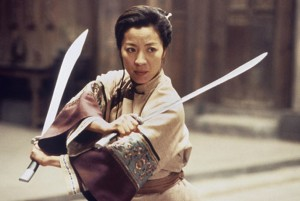 Crouching Tiger Hidden Dragon movie scene with Michelle Yeoh