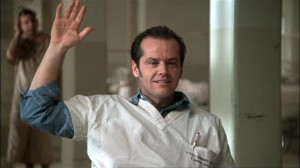 One Flew Over the Cuckoo's Nest movie scene with Jack Nicholson