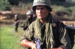 Platoon movie scene with Charlie Sheen