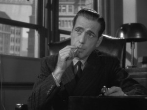 The Maltese Falcon movie scene with Humphrey Bogart