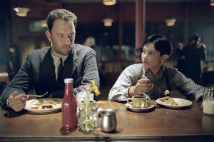 Road to Perdition movie scene with Tom Hanks and Tyler Hoechlin