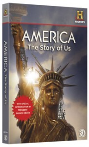America The Story of Us DVD box