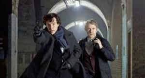 Sherlock BBC TV show scene