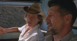 Tremors movie scene with Kevin Bacon and Fred Ward