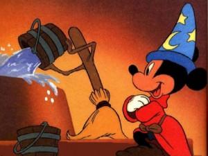 Fantasia movie scene with The Sorcerer's Apprentice