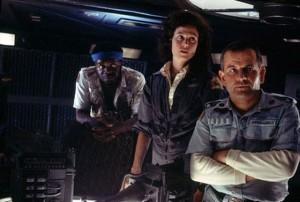 Alien movie scene with Sigourney Weaver