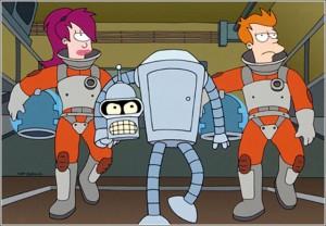 Futurama TV show scene