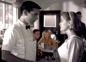 Pleasantville movie scene with Tobey Maguire and Reese Witherspoon