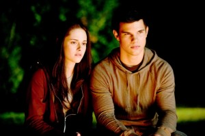 Twilight Eclipse movie scene with Kristen Stewart and Taylor Lautner