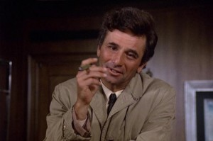 Columbo TV show scene with Peter Falk
