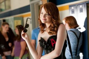 Easy A movie scene with Emma Stone