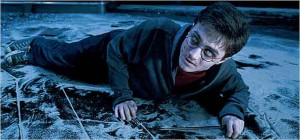 Harry Potter, played by Daniel Radcliffe