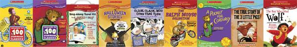 Scholastic DVD boxes