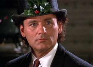 Scrooged movie scene