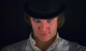 A Clockwork Orange movie scene