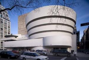 Frank Lloyd Wright's Guggenheim Museum movie scene