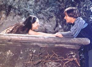Romeo and Juliet movie scene