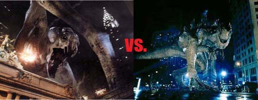 Cloverfield Monster vs. Godzilla