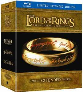 Lord of the Rings Extended Editions Blu-ray