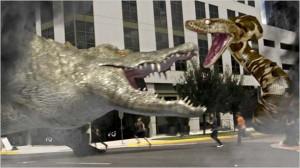 Mega-Python Vs. Gatoroid movie scene