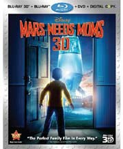 Mars Needs Moms Blu-ray 3D box