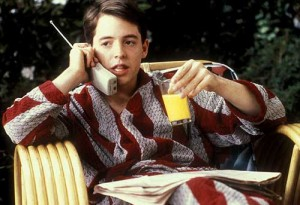 Ferris Bueller's Day Off movie scene