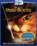 Puss in Boots Blu-ray 3D box
