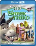 Shrek the Third Blu-ray 3D box