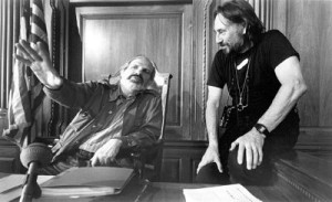 Brian De Palma and Vilmos Zsgmond on the set of 1990's The Bonfire of the Vanities.