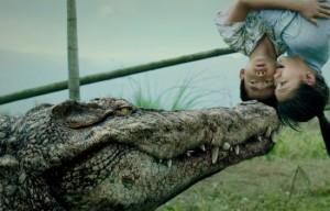 Croczilla movie scene