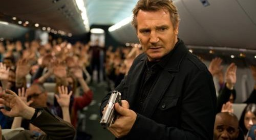 Liam Neeson must take down the bad guys 40,000 feet in the air in this thriller movie, coming in June.