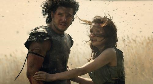Kit Harrington and Emily Browning run from Mount Vesuvius in this action adventure movie.