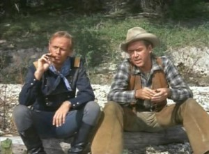 Two Rode Together movie scene