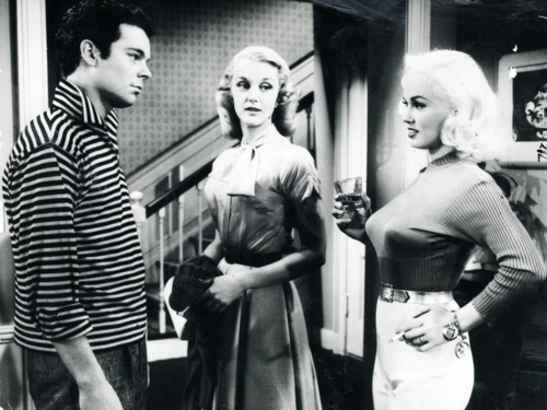 ... Mamie Van Doren, and her torpedo bra star in High School Confidential