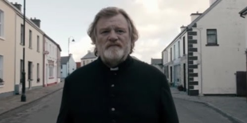 Brendan Gleeson stars as a priest who's threatened by a mysterious parishioner in the dark comedy-drama coming in December.