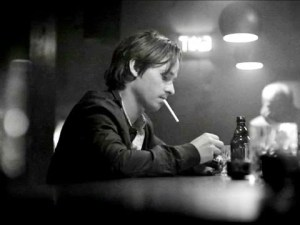 Tom Schilling ponders...and ponders...in A Coffee in Berlin.