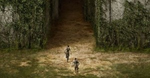The Maze Runner movie scene