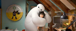 Baymax and Hiro in Big Hero 6