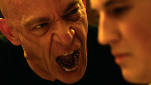 J.K. Simmons (l.) gives it to Miles Teller in Whiplash