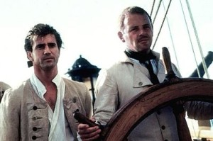 Mel Gibson (l.) and Anthony Hopkins set sail on The Bounty.