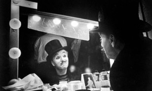 Chaplin gazes into a mirror--and his very soul--in Limelight.