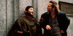 Robin Williams (l.) and Jeff Bridges in The Fisher King
