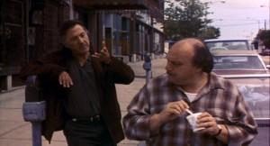 Dustin Hoffman and Dennis Franz in American Buffalo.