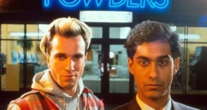 Daniel Day-Lewis and Gordon Warnecke in My Beautiful Laundrette